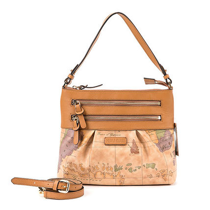 Casual Style Unisex Leather Elegant Style Shoulder Bags