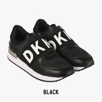 DKNY Casual Style Leather Logo Low-Top Sneakers