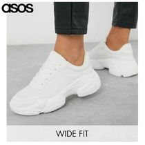 ASOS Wedge Platform Round Toe Rubber Sole Lace-up Casual Style