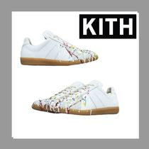 KITH NYC Plain Toe Suede Blended Fabrics Leather Shoes