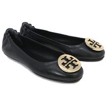 Tory Burch Casual Style Leather Office Style Logo Flats