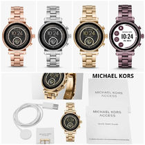 Michael Kors Casual Style Round Stainless Office Style Elegant Style
