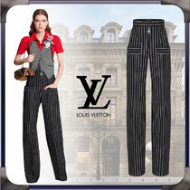 Louis Vuitton Stripes Casual Style Wool Long Office Style Elegant Style