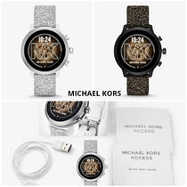 Michael Kors Casual Style Round Stainless Office Style Digital Watches