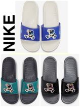 Nike BENASSI Unisex Street Style Plain Shower Shoes Logo Shower Sandals