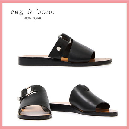 Rubber Sole Casual Style Plain Leather Sandals Sandal