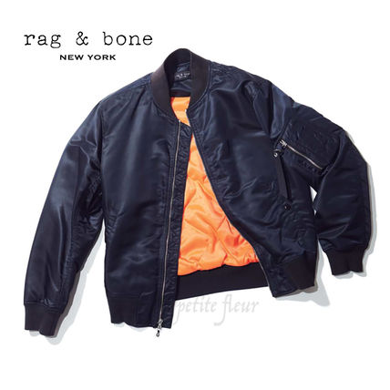 Short Nylon Plain MA-1 Bomber Jackets