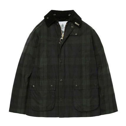 Other Plaid Patterns Unisex Nylon Street Style Jackets
