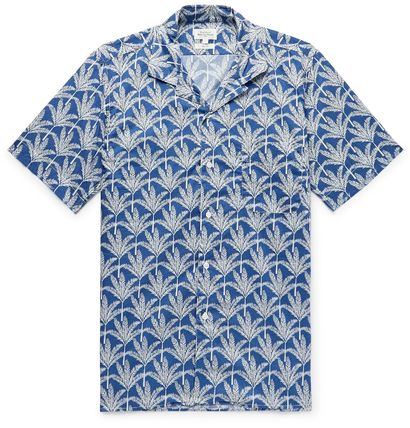 Tropical Patterns Street Style Cotton Short Sleeves Shirts
