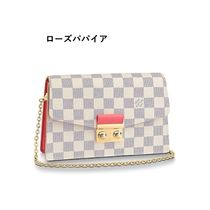 Louis Vuitton 2020 SS CROISETTE CHAIN WALLET rose papaye rose ballerine