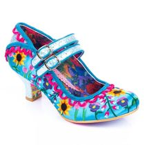 Irregular Choice Flower Patterns Casual Style Faux Fur Pumps & Mules
