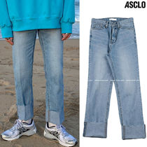 ASCLO Slax Pants Denim Street Style Collaboration Plain Jeans