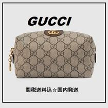 GUCCI Logo Pouches & Cosmetic Bags