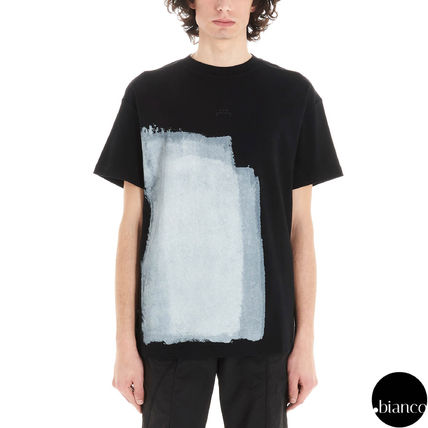 A-COLD-WALL Crew Neck Crew Neck Street Style Bi-color Cotton Short Sleeves 8