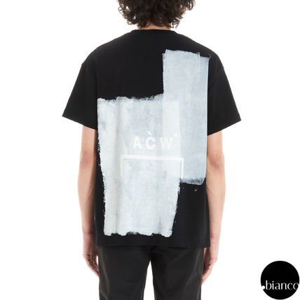 A-COLD-WALL Crew Neck Crew Neck Street Style Bi-color Cotton Short Sleeves 9