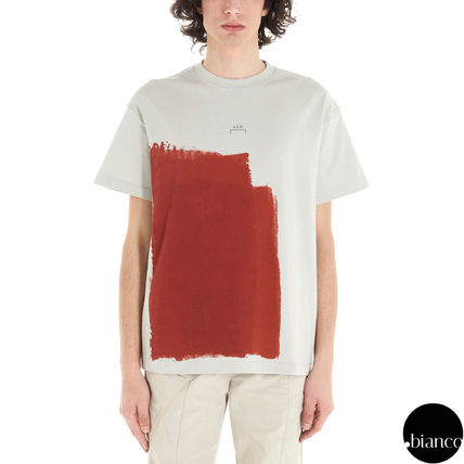A-COLD-WALL Crew Neck Crew Neck Street Style Bi-color Cotton Short Sleeves 15
