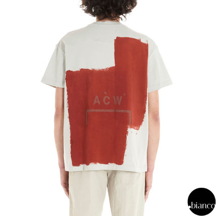 A-COLD-WALL Crew Neck Crew Neck Street Style Bi-color Cotton Short Sleeves 16