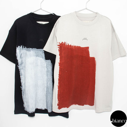 A-COLD-WALL Crew Neck Crew Neck Street Style Bi-color Cotton Short Sleeves 2