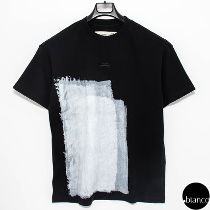 A-COLD-WALL Crew Neck Crew Neck Street Style Bi-color Cotton Short Sleeves 3