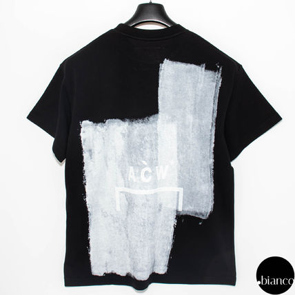 A-COLD-WALL Crew Neck Crew Neck Street Style Bi-color Cotton Short Sleeves 5