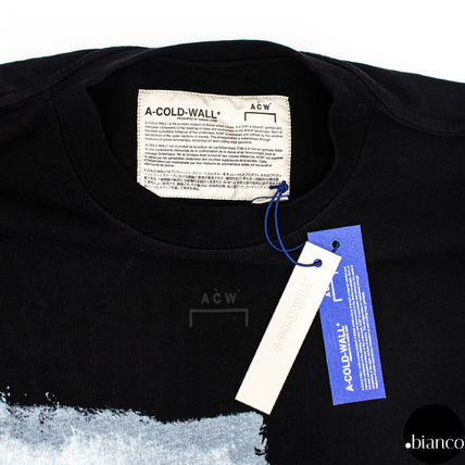 A-COLD-WALL Crew Neck Crew Neck Street Style Bi-color Cotton Short Sleeves 7