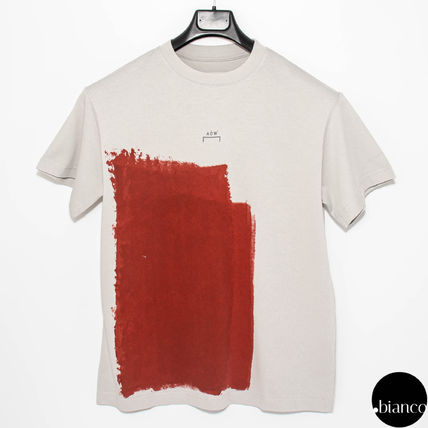 A-COLD-WALL Crew Neck Crew Neck Street Style Bi-color Cotton Short Sleeves 10