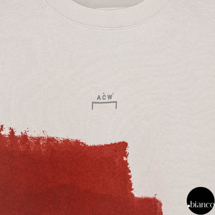 A-COLD-WALL Crew Neck Crew Neck Street Style Bi-color Cotton Short Sleeves 11