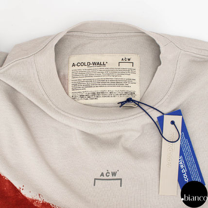 A-COLD-WALL Crew Neck Crew Neck Street Style Bi-color Cotton Short Sleeves 14