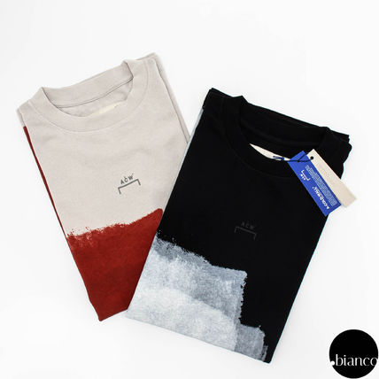 A-COLD-WALL Crew Neck Crew Neck Street Style Bi-color Cotton Short Sleeves 17