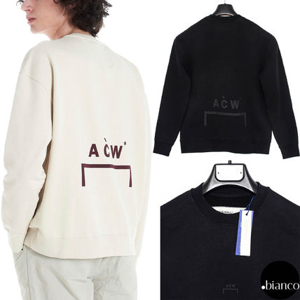 Crew Neck Pullovers Sweat Street Style Long Sleeves Cotton