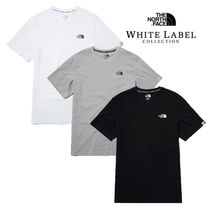 THE NORTH FACE WHITE LABEL Crew Neck Pullovers Unisex Street Style Plain Cotton