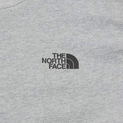 THE NORTH FACE Crew Neck Crew Neck Pullovers Unisex Street Style Plain Cotton 3