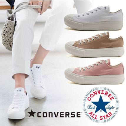 Platform Casual Style Plain Platform & Wedge Sneakers