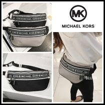 Michael Kors Casual Style Unisex Nylon 2WAY Crossbody Logo Hip Packs
