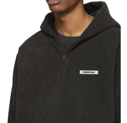 FEAR OF GOD ESSENTIALS Pullovers Unisex Street Style Long Sleeves Oversized Logo