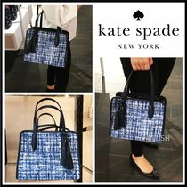 kate spade new york Casual Style Tassel 2WAY Leather Office Style Elegant Style