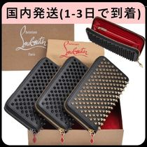 Christian Louboutin Panettone  Unisex Long Wallet  Logo Long Wallets