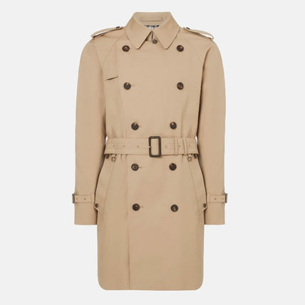 Nylon Street Style Plain Trench Coats
