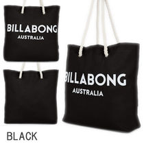 Billabong Casual Style Unisex Canvas A4 Plain Logo Totes