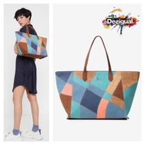 Desigual Casual Style A4 Elegant Style Totes