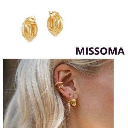 Costume Jewelry Casual Style Silver 18K Gold Elegant Style
