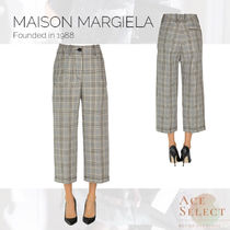 Maison Margiela Gingham Glen Patterns Casual Style Street Style Cotton Long