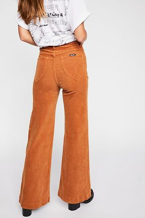 Shop Free People 2020 Ss Casual Style Corduroy Plain Long Pants By Snowpeach Buyma