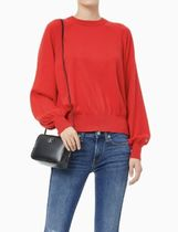 Calvin Klein Casual Style Street Style Leather Shoulder Bags