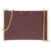 Chloe Roy Casual Style Calfskin 2WAY Chain Plain Leather Party Style