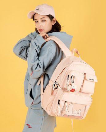 Casual Style Unisex Street Style Collaboration A4 Backpacks