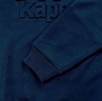 Kappa Sweatshirts Unisex Street Style Long Sleeves Plain Cotton Oversized 12