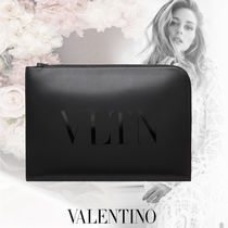 VALENTINO VLTN Casual Style Calfskin Party Style Office Style Elegant Style