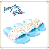 Irregular Choice Open Toe Rubber Sole Casual Style Shower Shoes Co-ord Logo