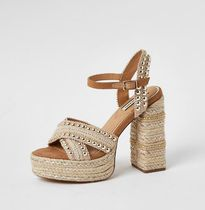 River Island Open Toe Platform Casual Style Studded Party Style